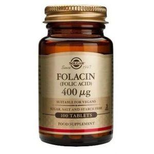 Solgar Folic Acid 400mg, 100tabs