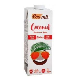 Ecomil Ρόφημα Καρύδας Φυσικό χωρίς ζάχαρη, 1l
