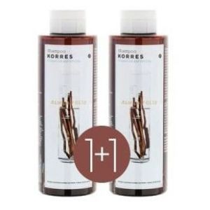 2 x Korres Σαμπουάν για Λιπαρά Μαλλιά με Γλυκύρριζα & Τσουκνίδα (1+1) ΔΩΡΟ, 2 x 250ml