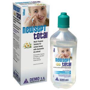 Demo New Sept Total Διάλυμα Πολλαπλών Χρήσεων για Φακούς Επαφής με Εκχύλισμα Χαμομηλιού, 500ml