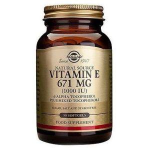 Solgar Vitamin E 671mg(1000IU), 50softgels