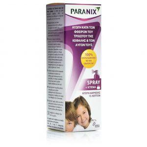 Paranix Spray, Αγωγή Κατά των Φθειρών του Τριχωτού της Κεφαλής και των Αυγών + Κτένα, 100ml