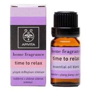 Apivita Αρωματικά Έλαια Time to Relax με Λεβάντα, Γιασεμί & Υλάνγκ Υλάνγκ, 10ml