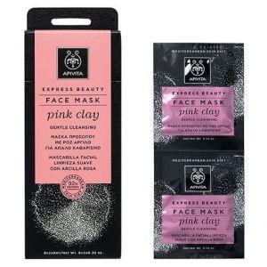 Apivita Express Beauty Face Mask Pink Clay, 2x8ml