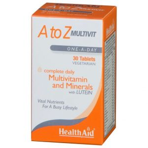 Health Aid A to Z Multivit and Minerals with Lutein, 30vegantabs