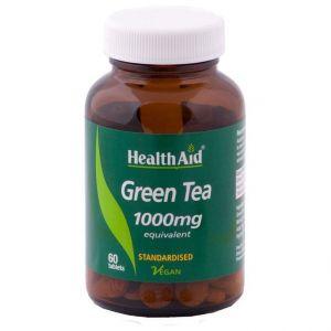 Health Aid Green Tea 1000mg, Πράσινο Τσάι, 60 ταμπλέτες