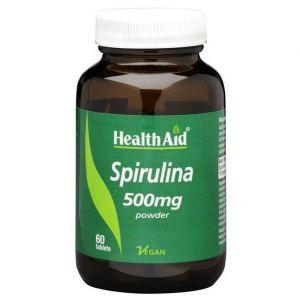 Health Aid Spirulina 500mgm, 60tabs