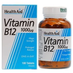 Health Aid Vitamin B12, 1000mg 100Tabs