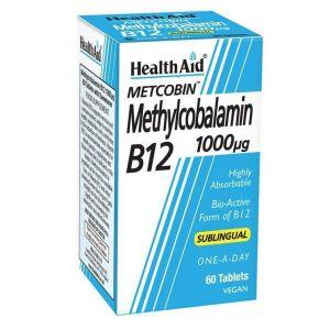 Health Aid Methylcobalamin Metcobin B12 1000mg 60Ταμπλέτες