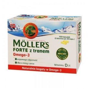 Moller's Forte Μουρουνέλαιο Μίγμα Ιχθυελαίου & Μουρουνέλαιου Πλούσιο σε Ω3 Λιπαρά Οξέα, 150 caps