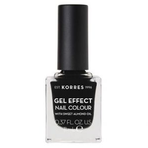 Korres Gel Effect Nail Colour With Sweet Almond Oil No.100 Black 11ml