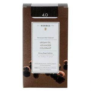 Korres Βαφή Argan Oil Advanced Colorant 4.0 Καστανό Φυσικό, 50ml