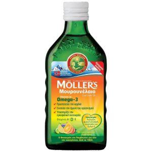 Moller's Μουρουνέλαιο Tutti Frutti Παραδοσιακό Μουρουνέλαιο σε Υγρή Μορφή με Γεύση Φρούτων, 250ml