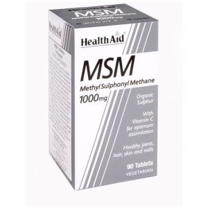Health Aid MSM 1000mg with Vitamin C, 90 ταμπλέτες