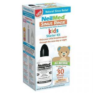 NeilMed Sinus Rinse Pediatric Starter Kit, 30 premixed packets & Bottle 120ml