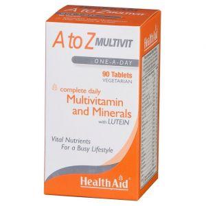 Health Aid A to Z Multivit with Lutein, Πολυβιταμίνες 90 tabs