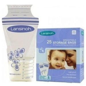 Lansinoh Σακουλάκια Αποθήκευσης Μητρικού Γάλακτος, 25τμχ