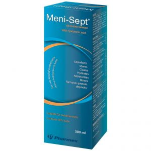 Meni Soft All-In-One Διάλυμα Καθαρισμού Για Όλους τους Φακούς Επαφής Αρκετό για 45 Ημέρες, 380ml