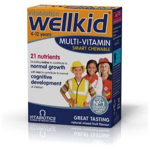Vitabiotics Wellkid, Πολυβιταμίνη Ειδικά Σχεδιασμένη για Παιδιά 4-12 ετών 30 Μασώμενα Δισκία