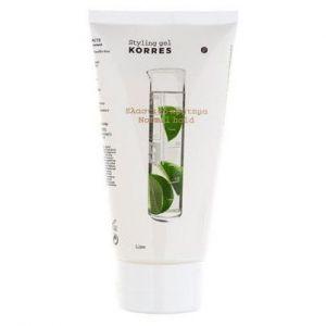 Korres styling gel για ελαστικό κράτημα μεγάλης διάρκειας με lime