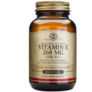 Solgar Vitamin E 268mg (400IU), 50softgels