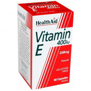 Health Aid Vitamin E 400iu, 60veg.caps