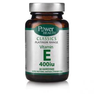 Power Health Classics Platinum Range Vitamin E 400iu, 30 Κάψουλες