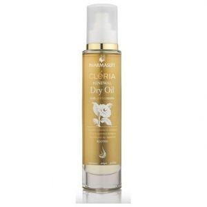 Pharmasept CLERIA Dry Oil with Golden Mastic, Ξηρό Ενυδατικό Λάδι για Πρόσωπο, Σώμα & Μαλλιά, 100ml