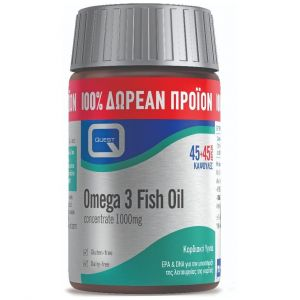 Quest Omega 3 fish oil concentrate 1000mg, 45tabs & ΔΩΡΟ, 45tabs
