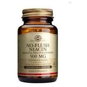 Solgar No-Flush Niacin 500mg Νιασίνη (Βιταμίνη Β3) ,50caps