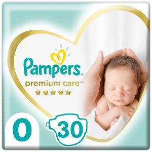 Pampers Premium Care Πάνες No0 (1-2,5kg), 30τμχ