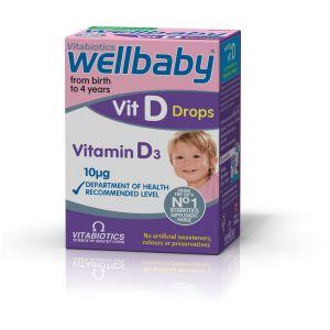 Vitabiotics Wellbaby Vit D drops Vitamin D3 10mg, 30ml