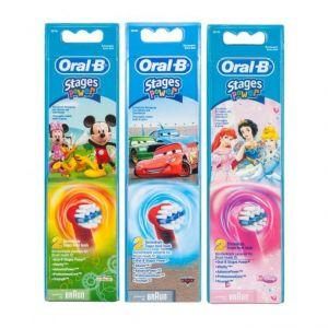 Oral-B Stages Power Ανταλλακτικά Disney 3 Σχέδια, 2τμχ