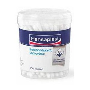 Hansaplast Βιοδιασπώμενες Μπατονέτες 100τμχ