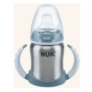 Nuk First Choice Plus Ανοξείδωτο Μπιμπερό Εκπαίδευσης με Λαβές 6-18 Μηνών με Ρύγχος Σιλικόνης, 125ml
