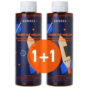 Korres Wash Me Melon Παιδικό Σαμπουάν & Αφρόλουτρο 2 σε 1 250ml 1+1ΔΩΡΟ