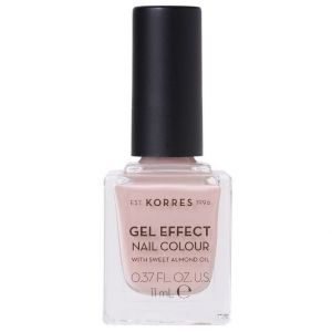 Korres Gel Effect Nail Colour With Sweet Almond Oil, No.32, Cocos Sand, 11ml