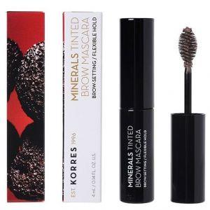 Korres Minerals Tinted Brow Mascara, Μάσκαρα Φρυδιών 01 Dark Shade