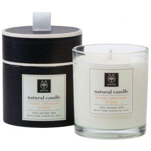 Apivita Natural Candle με Κέδρο, Πορτοκάλι & Γαρύφαλλο, 235gr