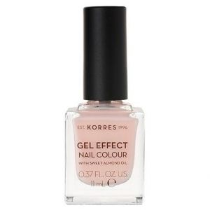 Korres Gel Effect Nail Colour With Sweet Almond Oil, No.04 Peony Pink, 11ml