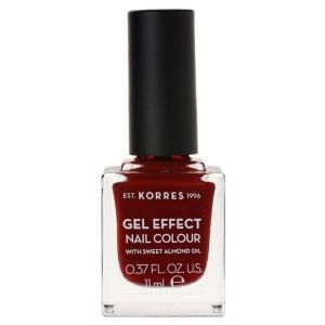 Korres Gel Effect Nail Colour No.59 Wine Red, 11ml