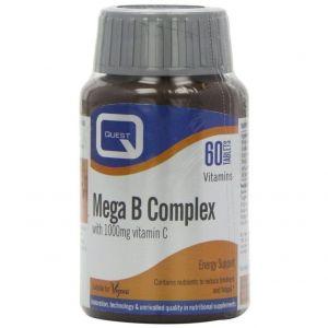 Quest Mega B Complex & 1000mg Vitamin C, 60tabs