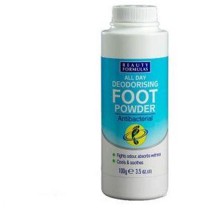 Beauty Formulas All Day Deodorising Foot Powder, 100gr