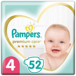 Pampers Premium Care Πάνες Jumbo Pack No4 (8-14kg), 52τμχ