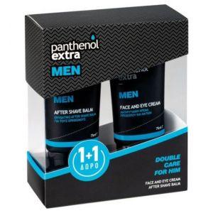 Panthenol Extra Men Promo Face & Eye Cream 75ml & ΔΩΡΟ After Shave Balm 75ml