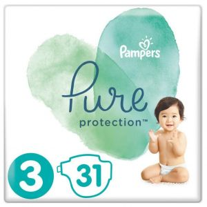 Pampers Pure Protection Πάνες No 3 (6-10kg), 31τμχ