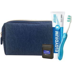 Elgydium Dental Travel Kit Μπλέ Νεσεσέρ