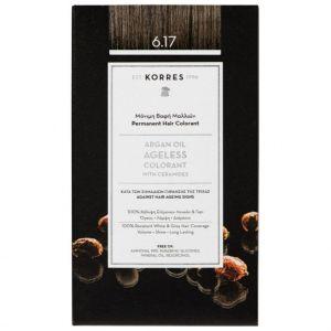 Korres Argan Oil Ageless Colorant 6.17 Ξανθό Σκούρο Μπέζ, 50ml
