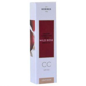 KORRES WILD ROSE Κρέμα CC Colour Correcting SPF30 Light Shade 30ml