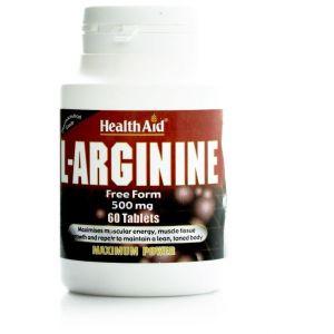 Health Aid L-Arginine 500mg,60tabs
